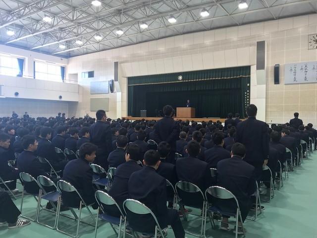 卒業式予行(皆勤者)