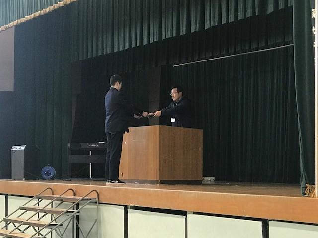 卒業式予行(卒業証書授与)