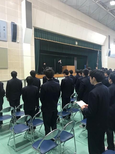 卒業式予行(歌唱練習)