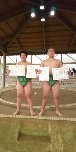 令和元年度兵庫県中学校相撲新人大会集合写真